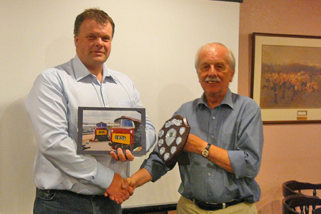 Roger Marsh presents Nigel Gillett with the 2010 trophy
