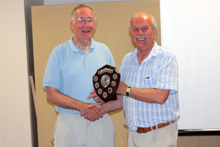 Roger Marsh presents Albert White with the 2011 trophy