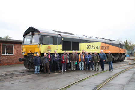 Y&DRS members at Eastleigh works